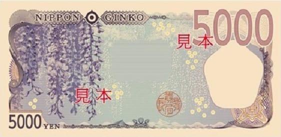 新5000円札ウラ