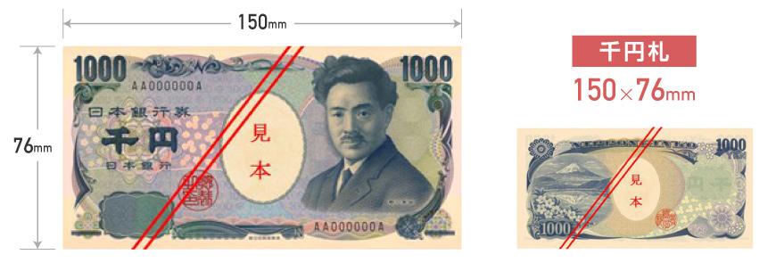 千円札のサイズ