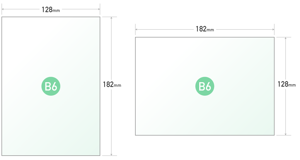 B6 サイズ cm
