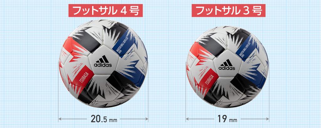 フットサルーボール/サイズ比較